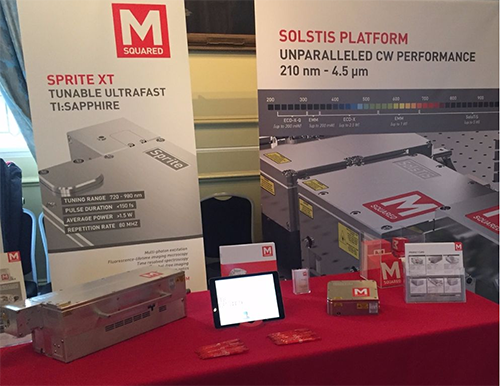 M Squared's booth at Biophotonics North